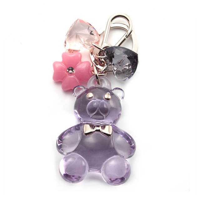 FURLA FURLA candy candy bear bear bear 3D Keychain Keyring purple key case brand ladies women new birthday presents White Christmas mother's day St. Patrick's day school celebration