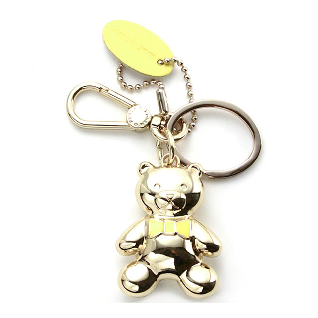 FURLA FURLA bear bear bear 3D Keychain key ring yellow key case brand ladies women new birthday presents White Christmas mother's day St. Patrick's day school present