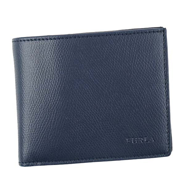 フルラ FURLA PQ37 MAN APOLLO M BIFOLD COIN マン アポロ バイフォールドコイン メンズ財布 小銭入れ付 2つ折り財布 NAVY ネイビー 867829