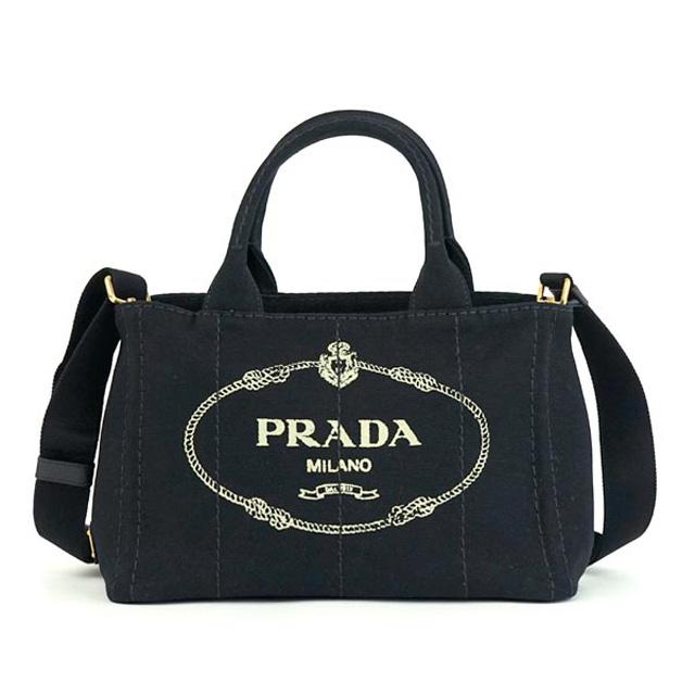 プラダ PRADA 2way バッグ CANAPA GIARDINIERA MEDIA 1BG439 ZKI カナパ ハンドバッグ NERO ブラック F0002