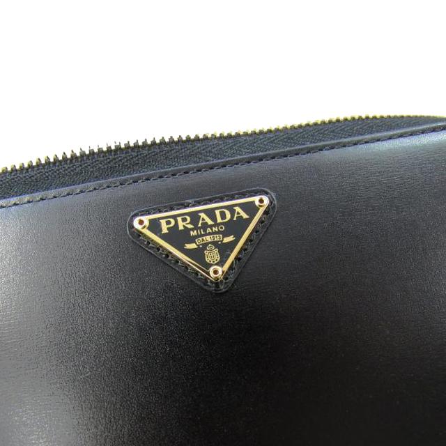 f0227541dc26 ... Prada PRADA wallet 1ML506 309 F0D9A00 BOX CALF boxcalf leather triangle  logo plate round fastener long