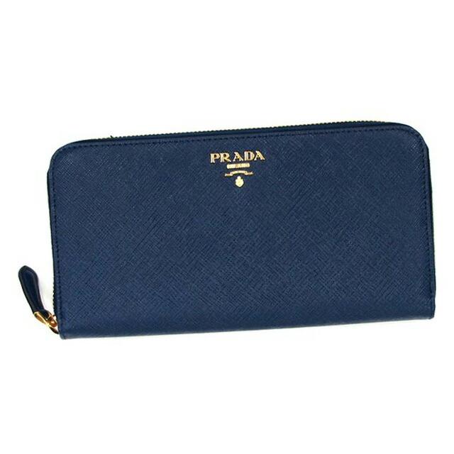 プラダ PRADA 長財布 1ML506 QWA F0016 財布 サフィアーノ SAFFIANO レザー ブリエッタ BLUETTE ブルー
