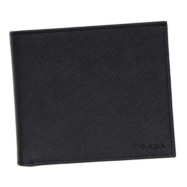 プラダ PRADA 二つ折り財布 小銭入れ付き コインケース付き 2MO738 053 F0002 ネロ NERO ブラック