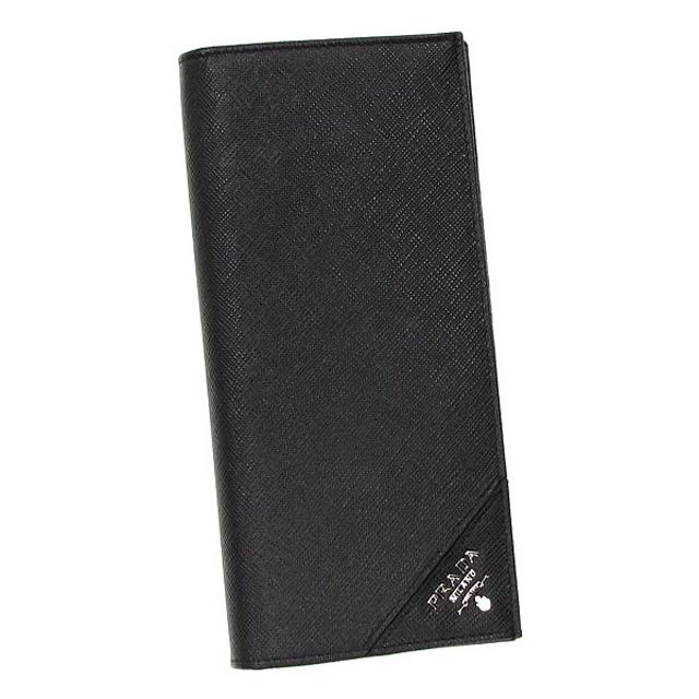 プラダ PRADA 財布 2MV836 QME 小銭入れ付き 二つ折り長財布 NERO ブラック F0002