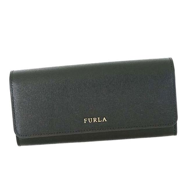 フルラ FURLA 二つ折り長財布 フラップ長財布 かぶせ式 BABYLON XL BIFOLD バビロン ONYX ブラック PS12 871069