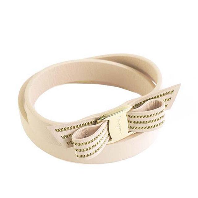 528fe5f559 Salvatore Ferragamo Salvatore Ferragamo 2 lap leather bracelet accessories  762255 695749 BR VARACHAIN ヴァラリボン MACARON light pink system