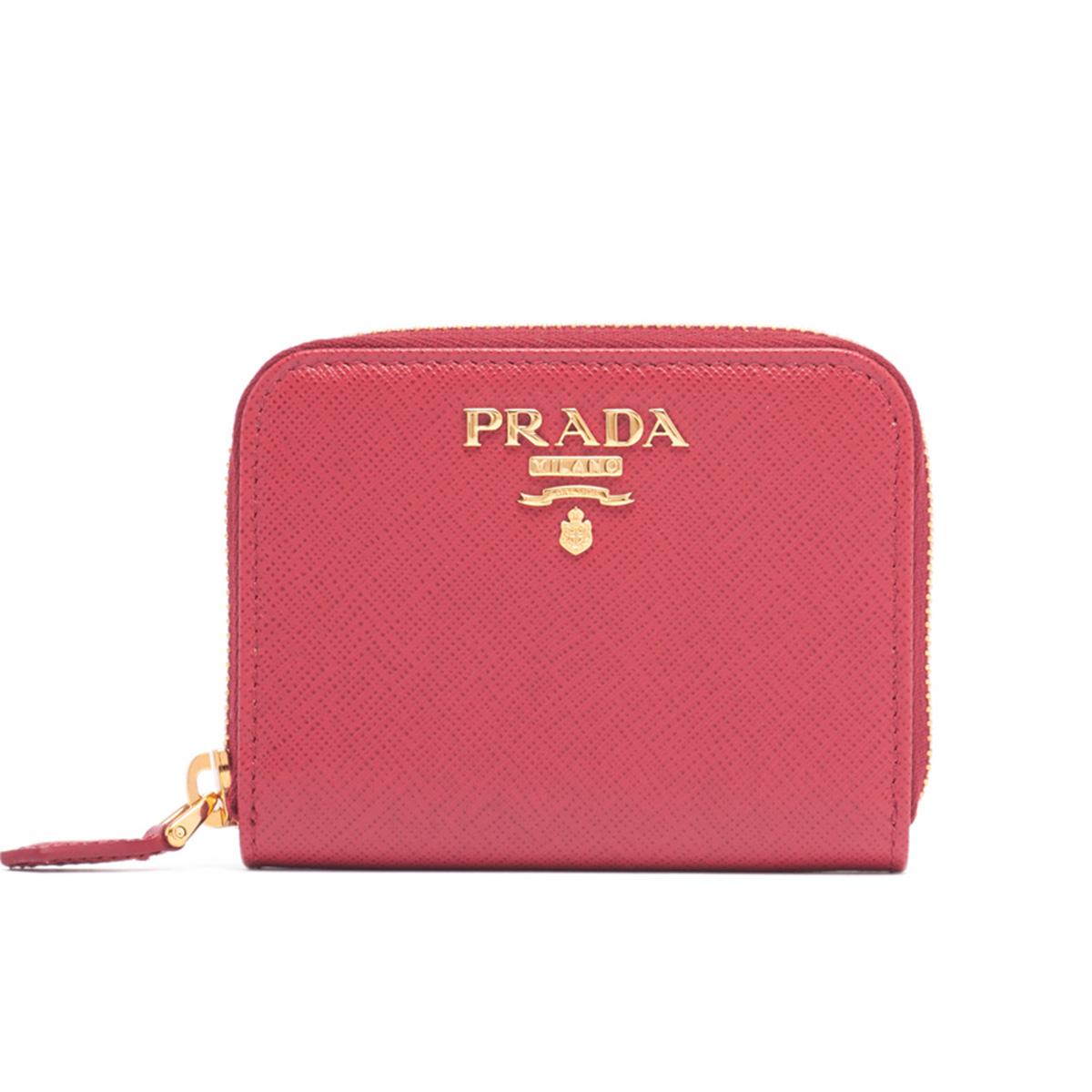 プラダ PRADA 財布 COIN CASE コインケース 1MM268QWA ラウンドファスナー 小銭入れ F0505 PEONIA ピンク系