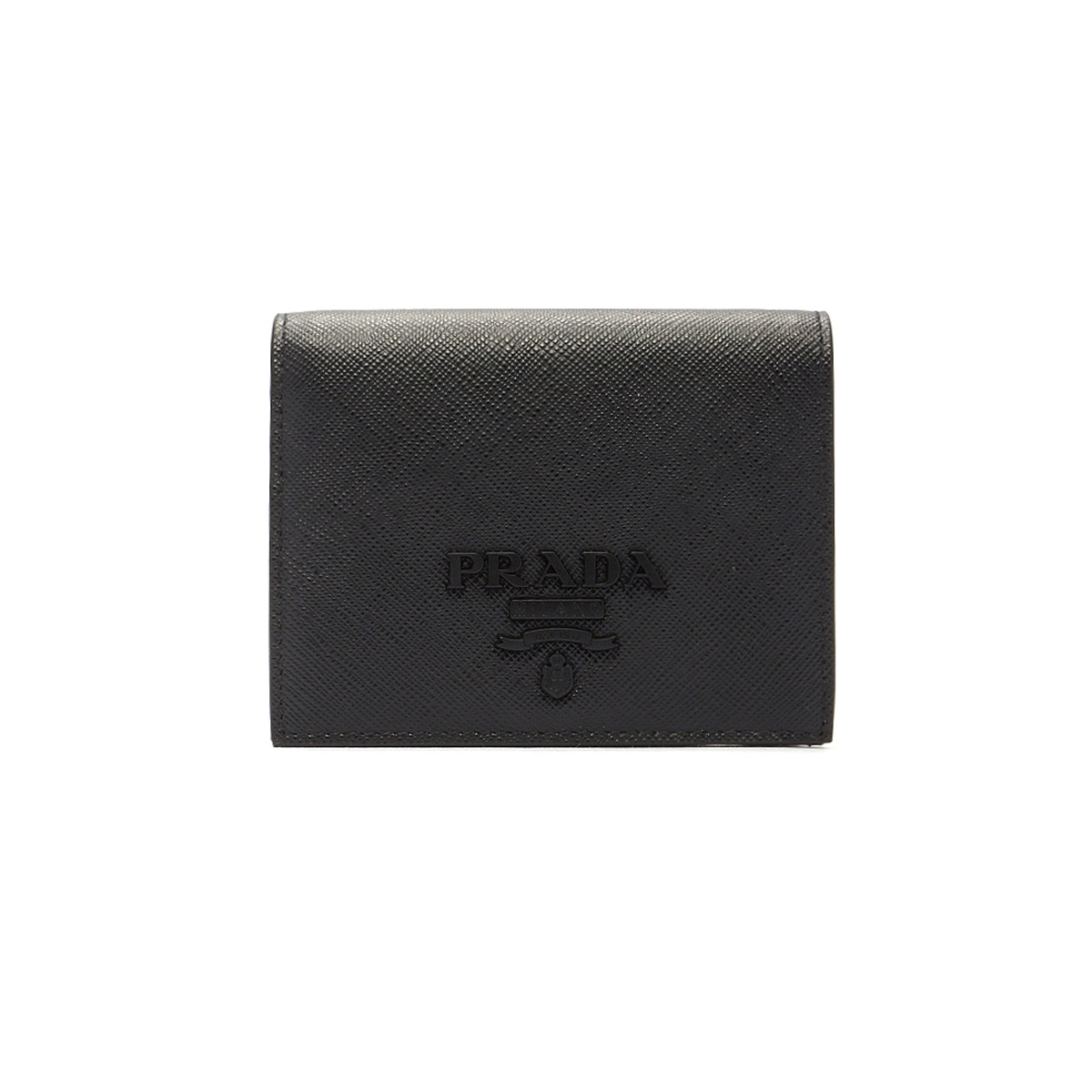 プラダ PRADA 財布 LEATHER WALLET レザーウォレット 1MV2042EBW 小銭入れ付き 二つ折り財布 F0002 NERO ブラック