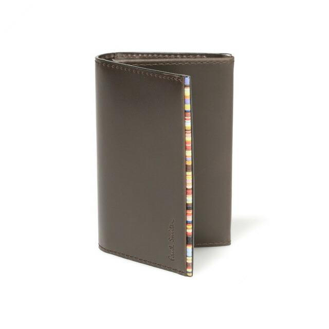 ポールスミス カードケース メンズ ブランド Paul Smith カードケース 収納 名刺入れ メンズ ランキング 革 レザー ダークブラウン 新品 未使用