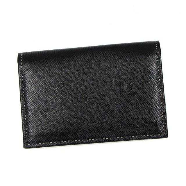 ポールスミス カードケース 革 paul smith 名刺入れ メンズ ブランド ポイントカード クレジットカードケース 二つ折り おしゃれ 新品 未使用 ブラック