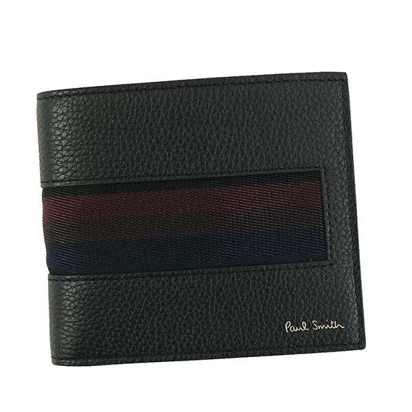 ポールスミス Paul Smith 財布 二つ折り財布 AUPC4832 W885 79 BILLFOLD WALLET ブラック系