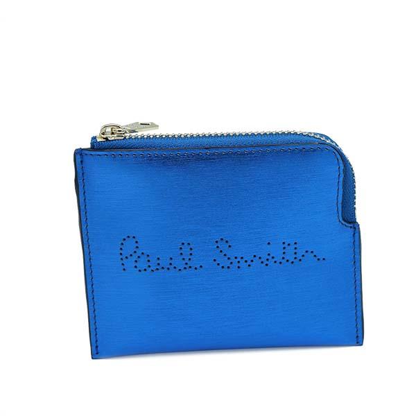 ポールスミス Paul Smith コインケース 小銭入れ マルチケース M1A 5987 41 MEN WALLET ZIP RECEIPT メンウォレットジップレシート BLUE メタリックブルー