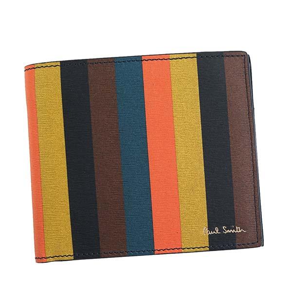 ポールスミス Paul Smith 財布 二つ折り財布 M1A4833 A40023 96 BIFOLD ブライトストライプ
