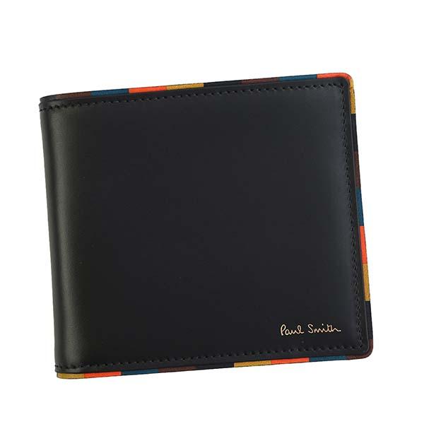 ポールスミス Paul Smith 財布 二つ折り財布 M1A4833 AEDGE 79 BIFOLD ブラック