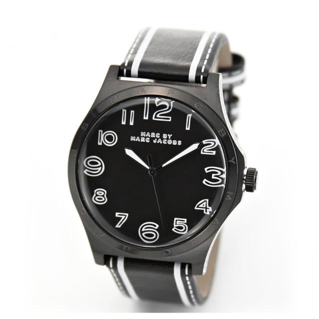 マーク バイ マークジェイコブス[MARC BY MARC JACOBS] 腕時計/メンズ/レディース/男女兼用 ユニセックス 時計 レザーベルト ブランド ブラック