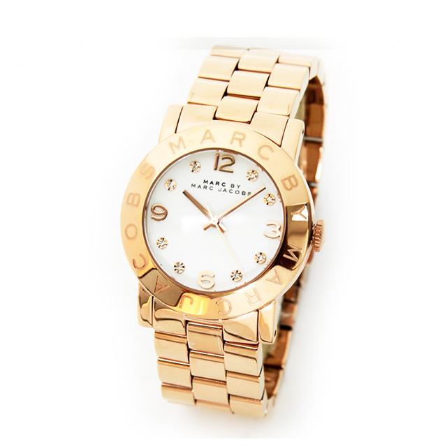 MarcByMarcJacobs 腕時計 [マークバイマークジェイコブス時計] キラキララインストーン ピンクゴールド MARC BY MARC JACOBS 腕時計 マーク バイ マーク ジェイコブス 時計 かわいい レディース時計 人気