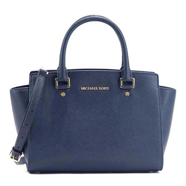 Michael Kors MICHAEL KORS Michael Kors handbag 30S3GLMS2L 414 MD TZ SATCHEL SELMA ADMIRAL MK shoulder bag shawl navy dark blue Lady's present gift is