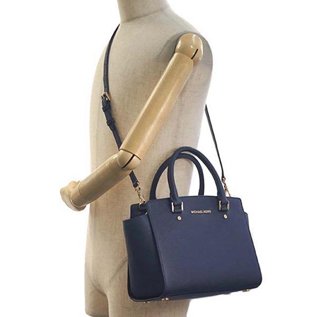 045aa9bf2cb ... Michael Kors MICHAEL KORS Michael Kors handbag 30S3GLMS2L 414 MD TZ SATCHEL  SELMA ADMIRAL MK shoulder ...