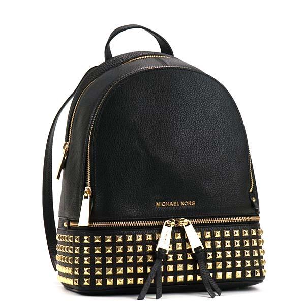 41c90d1ffc79ce Michael Kors MICHAEL KORS Michael Kors backpack 30S5GEZB5L 001 MD PYR STUD  BACKPACK RHEA ZIP BLACK ...