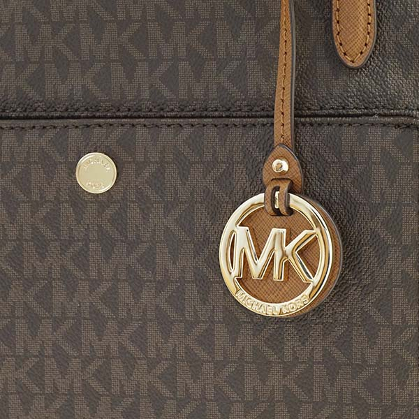 fbf79aef95b29c Michael Kors MICHAEL KORS Michael Kors tote bag 30S7GTTT7B 200 LG TZ SNAP  PCKT TOTE JET SET BROWN MK logo pattern shoulder bag shawl brown tea Lady's  ...
