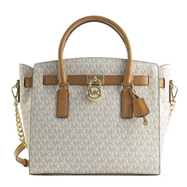 c6515a145e3d Michael Kors MICHAEL KORS Michael Kors handbag 30T7GHMS7B 150 HAMILTON LG  EW SATCHEL VANILLA MK shoulder ...