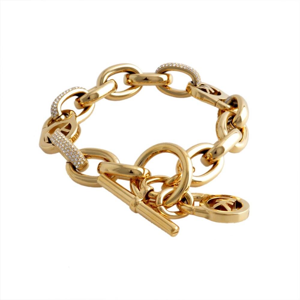 d30676b752d51 Michael Kors MICHAEL KORS マイケルコースパヴェ MK logo tag charm chain bracelet  bangle MKJ4905710 Exclusives gold Lady s accessories present gift present
