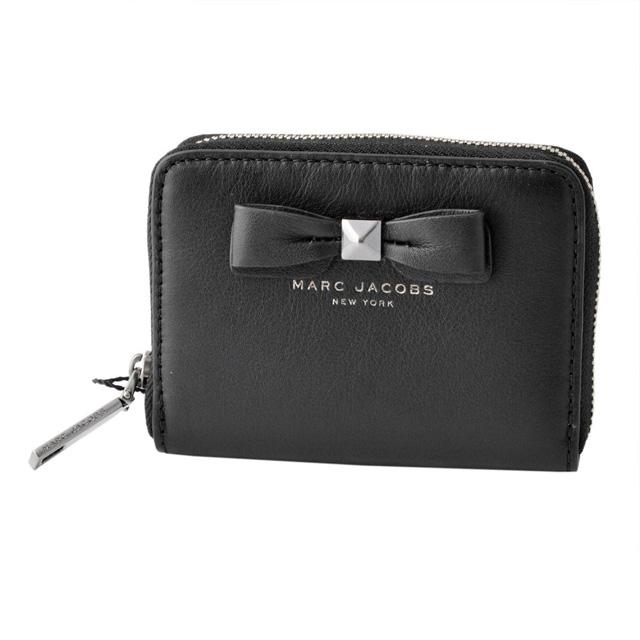 マークジェイコブス MARC JACOBS M0011218-001 リボンモチーフ カードケース コインケース 小銭入れ Bow Zip Card Case Black ブラック