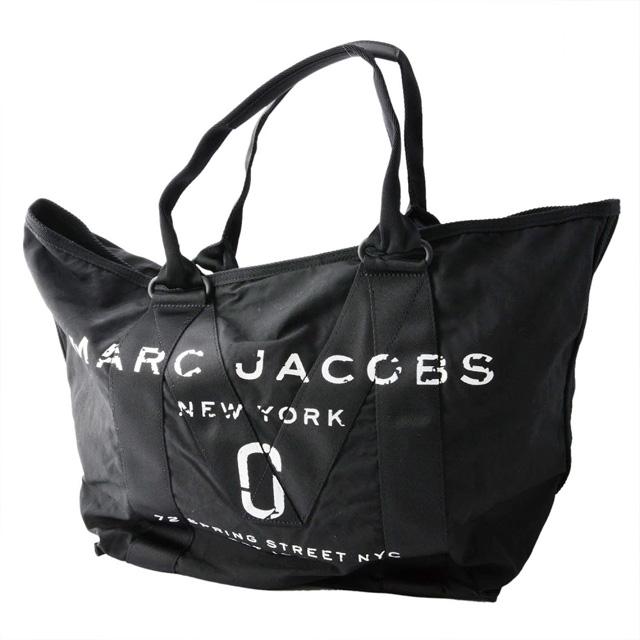 2320c0d694a3 Mark Jacobs MARC JACOBS M0011223-001 military logo print tote bag shawl New  Logo Tote Black black