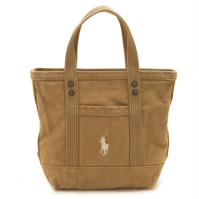 8af3bbd636 Salada Bowl  Polo Ralph Lauren POLO RALPH LAUREN pony logo embroidery tote  bag handbag vintage processing 428684120 002 SMALL POLO PONY TOTE khaki  beige ...