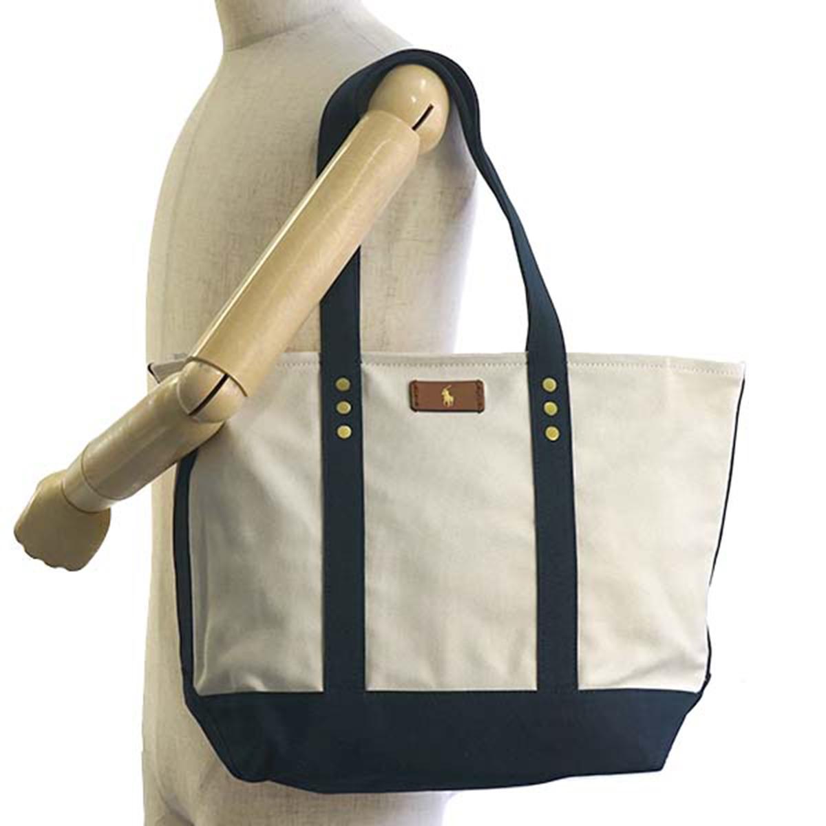 6e503e74ec Ralph Lauren Ralph Lauren tote bag Lady s men canvas shoulder bag tote bag  shoulder back natural beige navy dark blue lady s great new work bag  attending ...