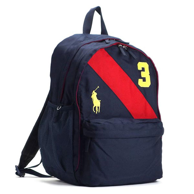 Polo by Ralph Lauren Polo Ralph Lauren 950078 bags BP NV BANNER STRIPE II  BACKPACK LG Navy Red f956b66b48ff9