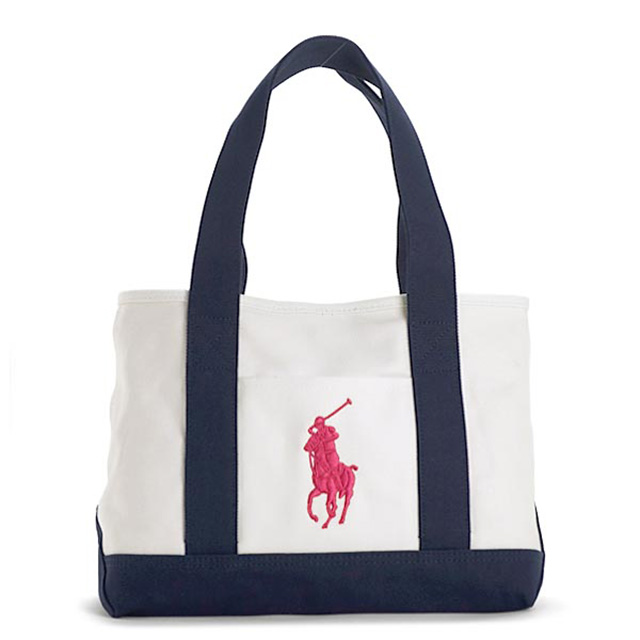 76d91dd7c6d2 Polo Ralph Lauren Polo Ralph Lauren tote bag school tote bag big pony  Lady s men canvas shoulder bag tote bag shoulder back white navy pink white dark  blue ...
