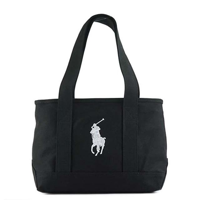 Polo Ralph Lauren POLO RALPH LAUREN tote bag POLO PONY TOTE MD pony logo  embroidery BLACK+WHITE PP black + white RA100029A d6f1bd50cd239