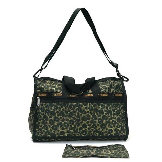 Reply port case shoulder bag LeSportsac bag MEDIUM WEEKENDER 7184 D463  medium week ender 2way shoulder Boston bag ARMY CHEETAH army cheetah khaki  system ... 1f3de89d72220