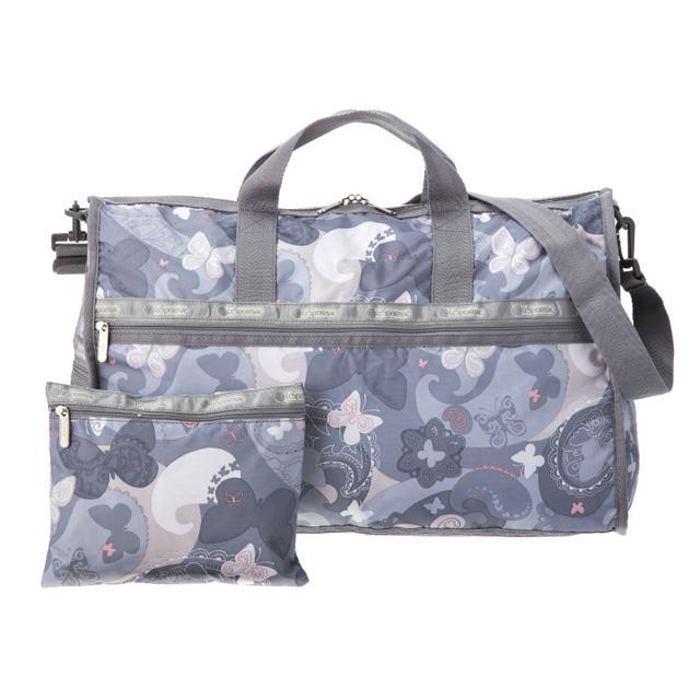 It is shoulder bag ALL A FLUTTE blue system + butterfly pattern at reply  port case Boston bag LeSportsac 7185 D399 LARGE WEEKENDER large week ender  bias 857079cec6cd3