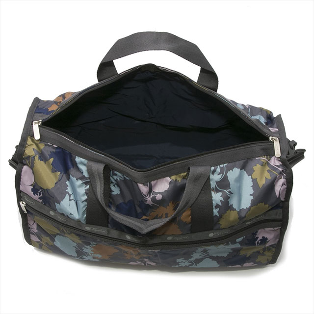 It is bag 7185 D973 LARGE WEEKENDER large week ender BLOOM FLORAL フラワーボタニカル  pattern gray system Maruti at reply port case LeSportsac Boston bag ... dcefbe54b89b4