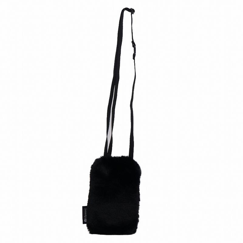 レスポートサック LeSportsac ポシェット FUR CROSSBODY 2558 F019 ファー クロスボディ FURRY BLACK ファーリーブラック 黒 ショルダーバッグ ミニバッグ エコファー 新品