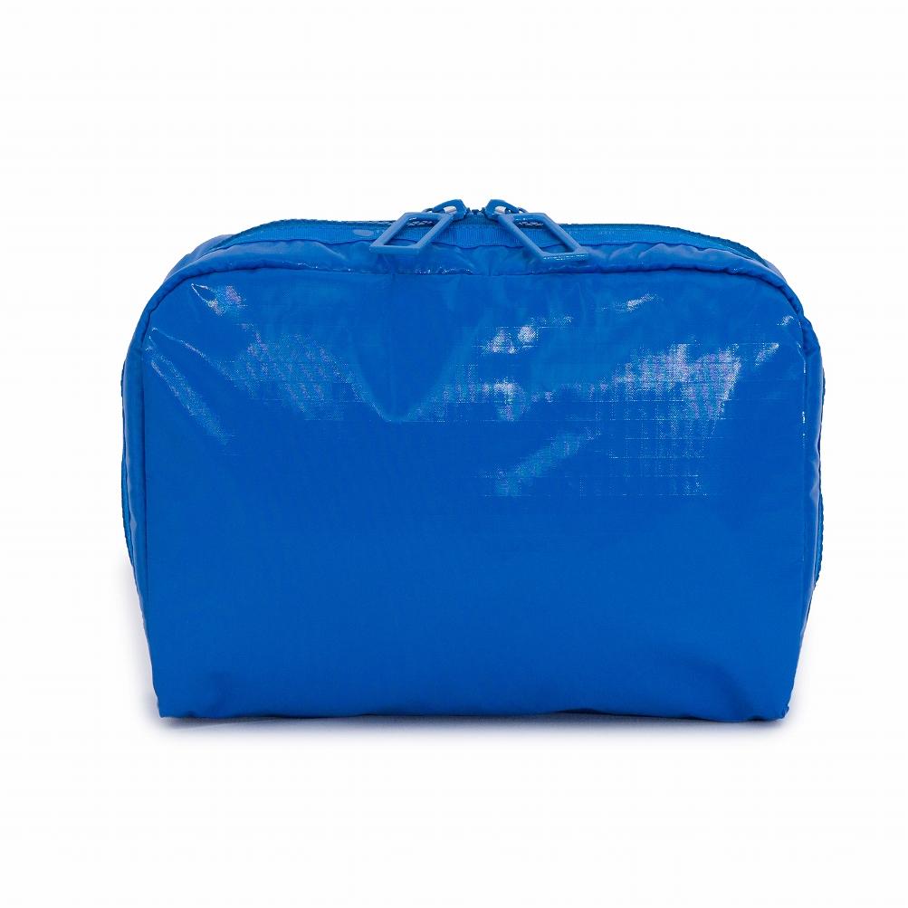レスポートサック LeSportsac ポーチ 化粧ポーチ マルチポーチ 7121 F116 EXTRA LARGE RECTANGULAR COSMETIC エクストララージレクタンギュラーコスメティック DAZZLE BLUE LP ブルー