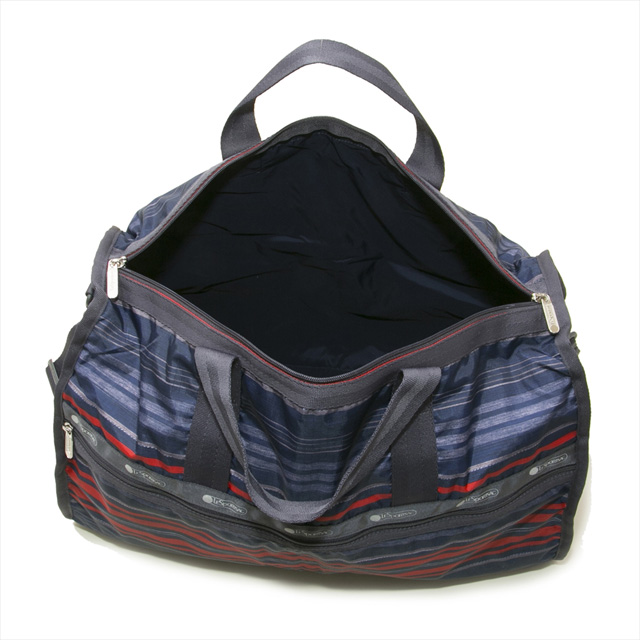 Reply port case LeSportsac bag LARGE WEEKENDER 7185 E294 large week ender 2way  shoulder Boston bag SADDLE STRIPE stripe pattern navy system 57ad157961373