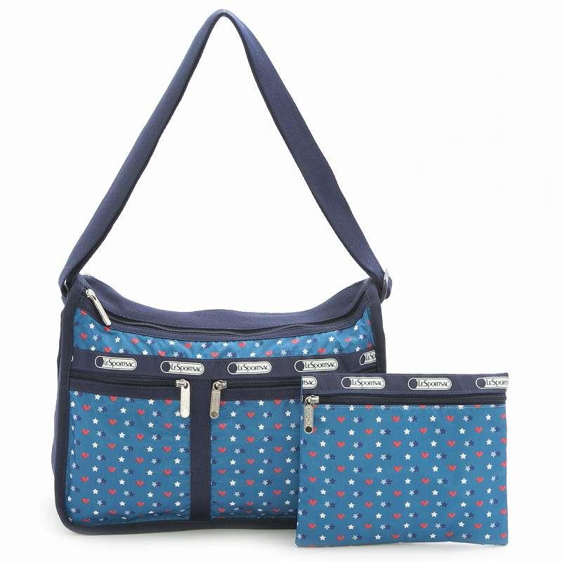 レスポートサック LeSportsac ショルダーバッグ 斜めがけバッグ 7507 D868 Deluxe Everyday Bag デラックスエブリデイバッグ STARGAZER BLUE S ブルー系マルチ