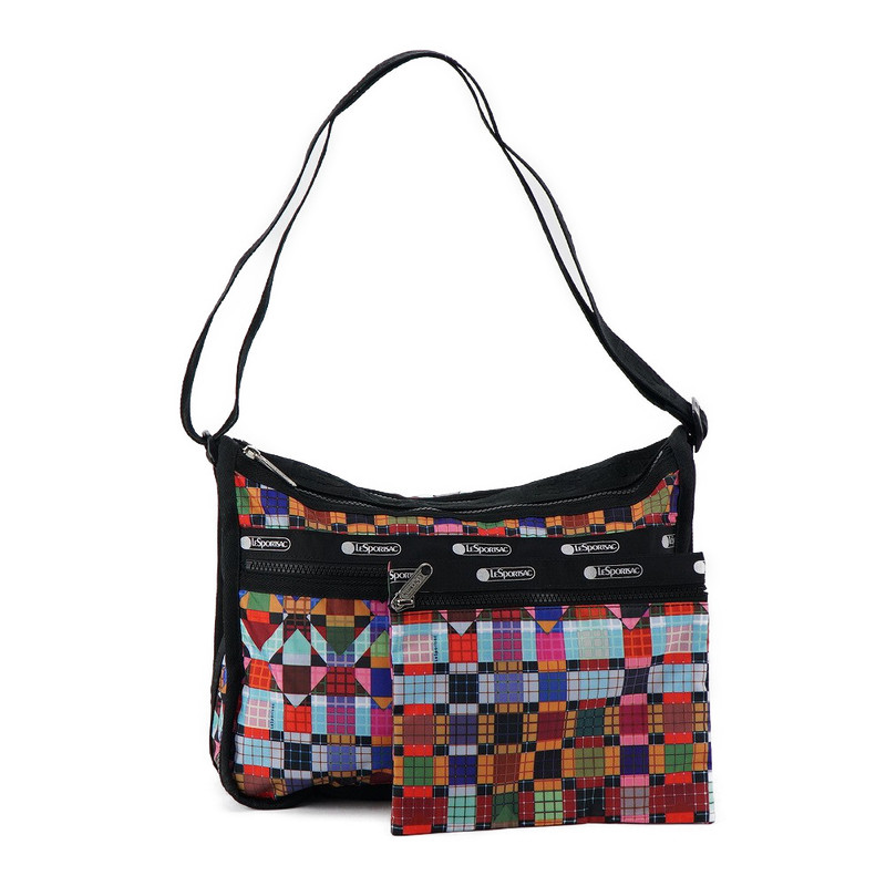 A Bag Is New At Reply Port Case Lesportsac Shoulder Deluxe Everyday 7507 F029 Candy Vision Multicolored Bias