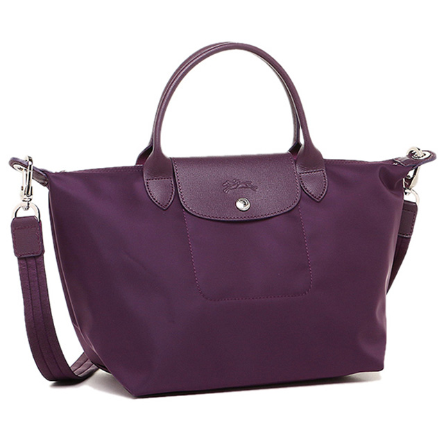 Women Longchamp Neo Play Juno Handbags Shoulder Bag S Tote Le Pliage Brand New Christmas Purple Series 2 Way Commuter School