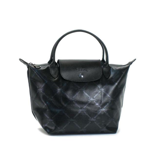 Salada Bowl  Longchamp handbag Tote Bag Black Black Womens new brands sale  Longchamp cotton cowhide LM METAL lattice check fs2gm  9eeab7ef59f62