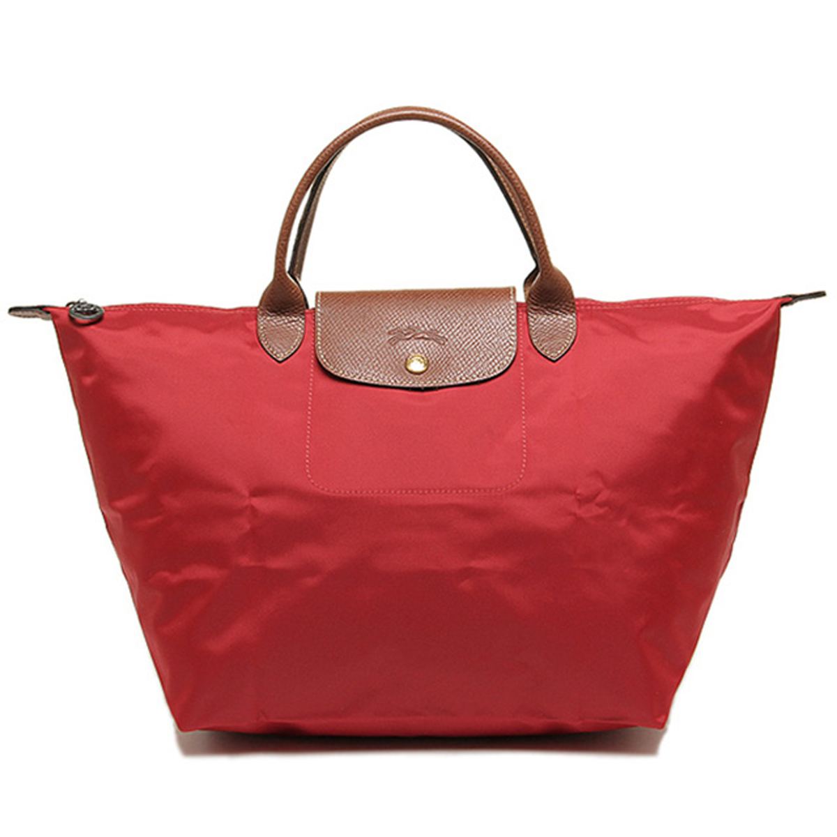 Longchamp Handbag Tote Bag Foldable Bags Le Pliage ルプリアージュ Red Womens New Brands Nylon Leather Folding M Size Fs2gm