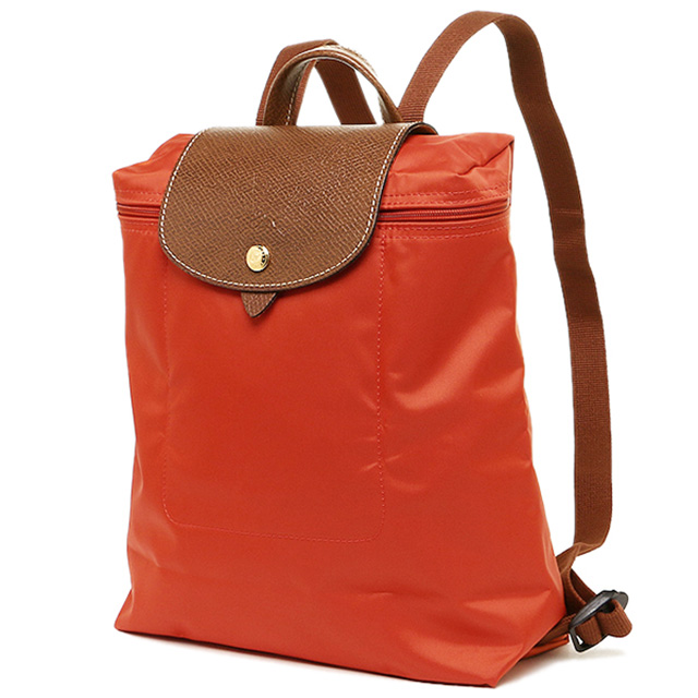 f25a28f6e08a Longchamp LONGCHAMP backpack Le pliage Backpack Rucksack folding backpack  lplage poppy Orange ladies leather leather nylon stylish and cute light  travel for ...