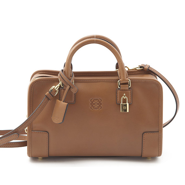 Loewe A Bag Mini Boston 2way Shoulder Real Leather Also Las 35239h71 2030 3180 Brick Red