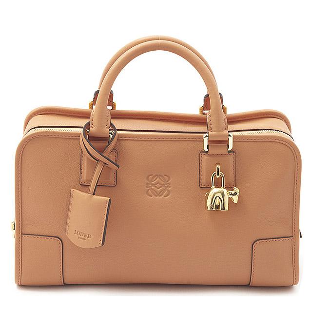Loewe A Bag Mini Boston Leather Handbag Las 35279a03p2000 7150 Salmon Pink