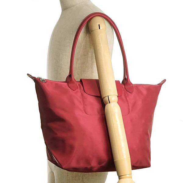 Longchamp LONGCHAMP tote bag shawl bag 1899 578 232 LE PLIAGE NEO ルプリアージュネオ  RAMBOISE red pink system 792b8dcdc3