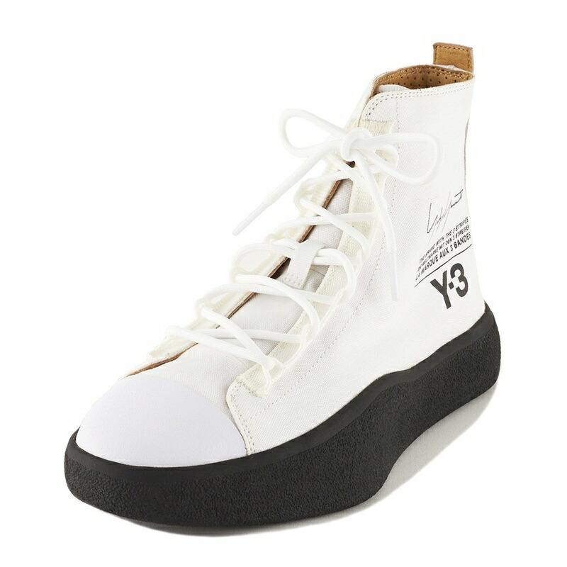 ワイスリー Y-3 adidas アディダス コラボ BASHYO AC7518 バショー ハイカットスニーカー メンズ レディース FTW WHITE/CORE BLACK/CORE BLACK ホワイト+ブラック 24cm 24.5cm 25cm 25.5cm 26cm
