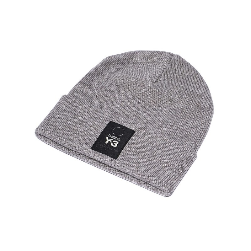 74bebc24c Weiss Lee Y-3 knit cap knit hat hat men gap Dis DT0892 LOGO BEANIE logo  beanie HEATER GREY is gray